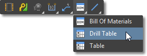Draftsman Active Bar, BOM / Drill / Table placement menu