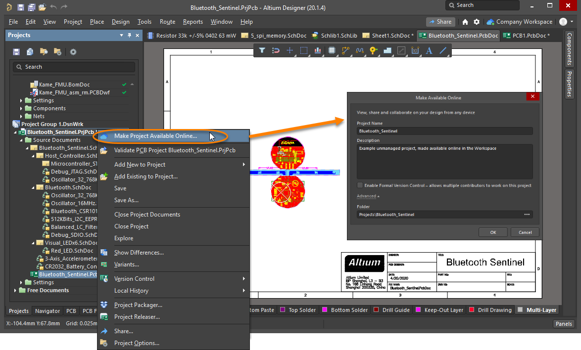 Projects Altium Designer 20 2 User Manual Documentation