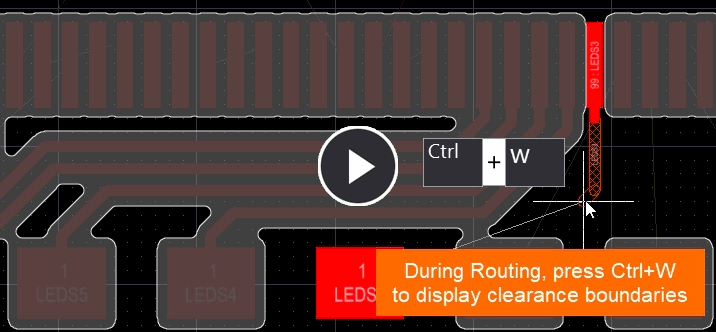 Video of Reduce Clearance Display Area option disabled