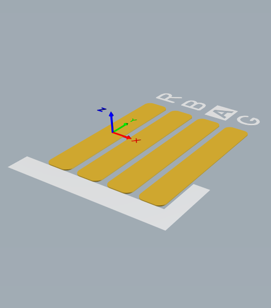 PCB footprint in 3D layout view mode