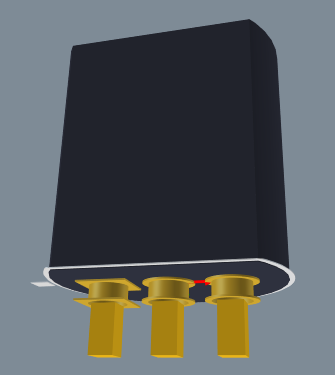 TO-92 transistor 3D model created from 3D Body objects, second image