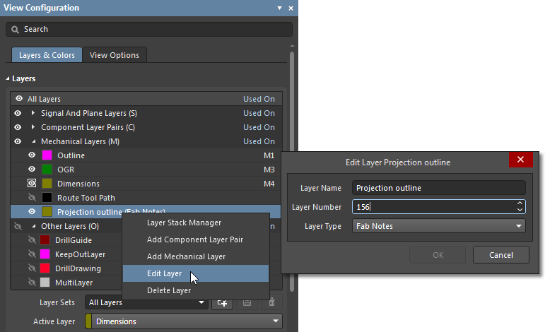 Editing a mechanical layer