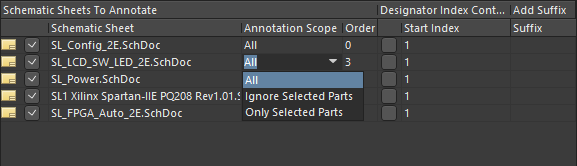 Specifying the scope of annotation.
