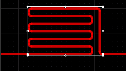 Trombone objects are added to increase the length of a route, the Net Length Gauge indicates the progress towards achieving the required target length.