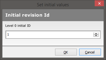 The Set initial values dialog