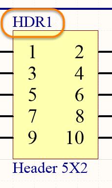 The Designator uniquely identifies each component in the design.
