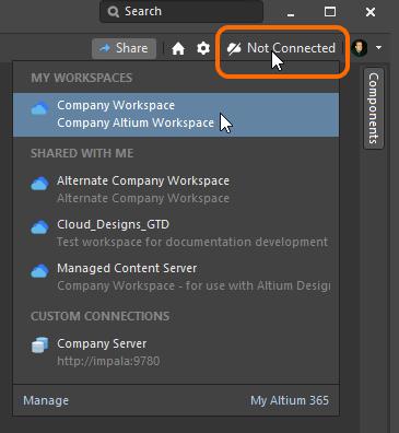 Щелкните ЛКМ для подключения к доступному вам Workspace.