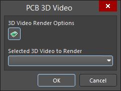 The PCB 3D Video dialog