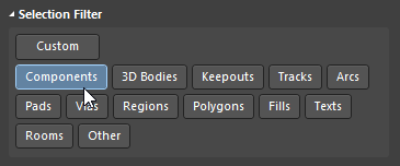 Use the Custom button to toggle all object-types you need.