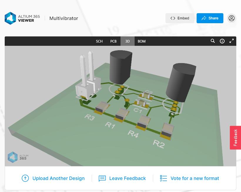 Design snapshot in Altium 365 Viewer