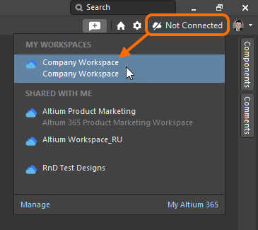Connect to Workspace