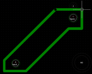 Creating a split plane using the Place » Line command.