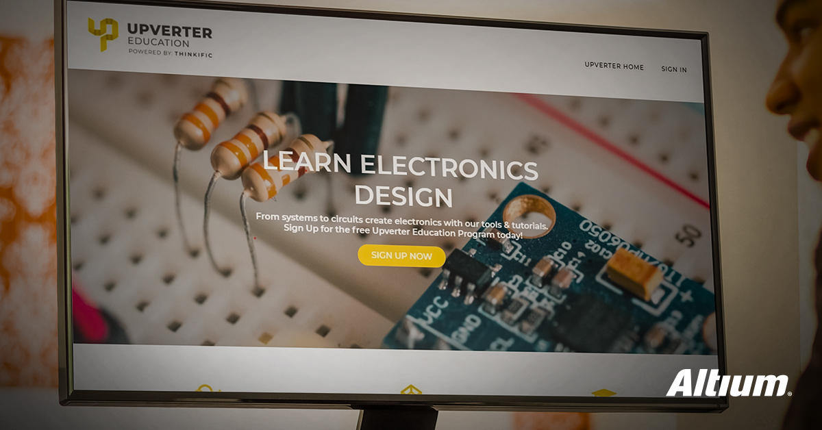 Free online curriculum and EDA tool for high school educators to teach electronics & engineering essentials